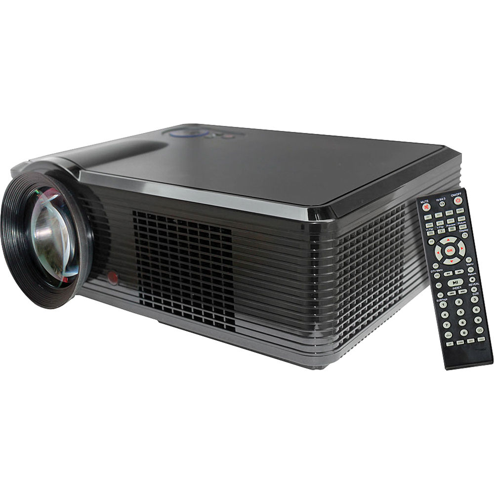 Pyle pro prjle33 portable led projector prjle33 b h photo for Portable video projector