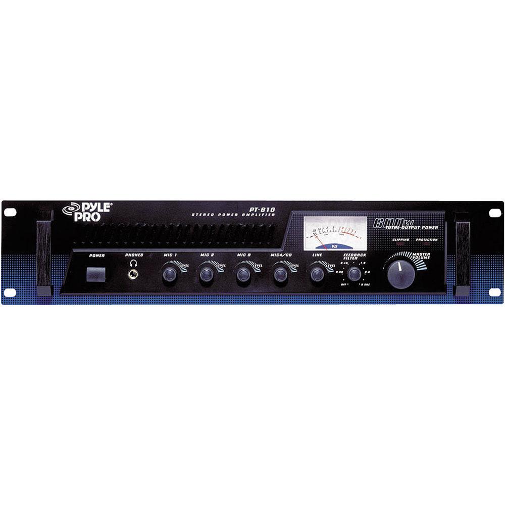 pyle pro pt610 power amplifier mixer pt610 b h photo video. Black Bedroom Furniture Sets. Home Design Ideas