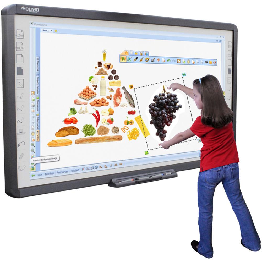 QOMO HiteVision QWB100WS Interactive Whiteboard QWB100WS B&H