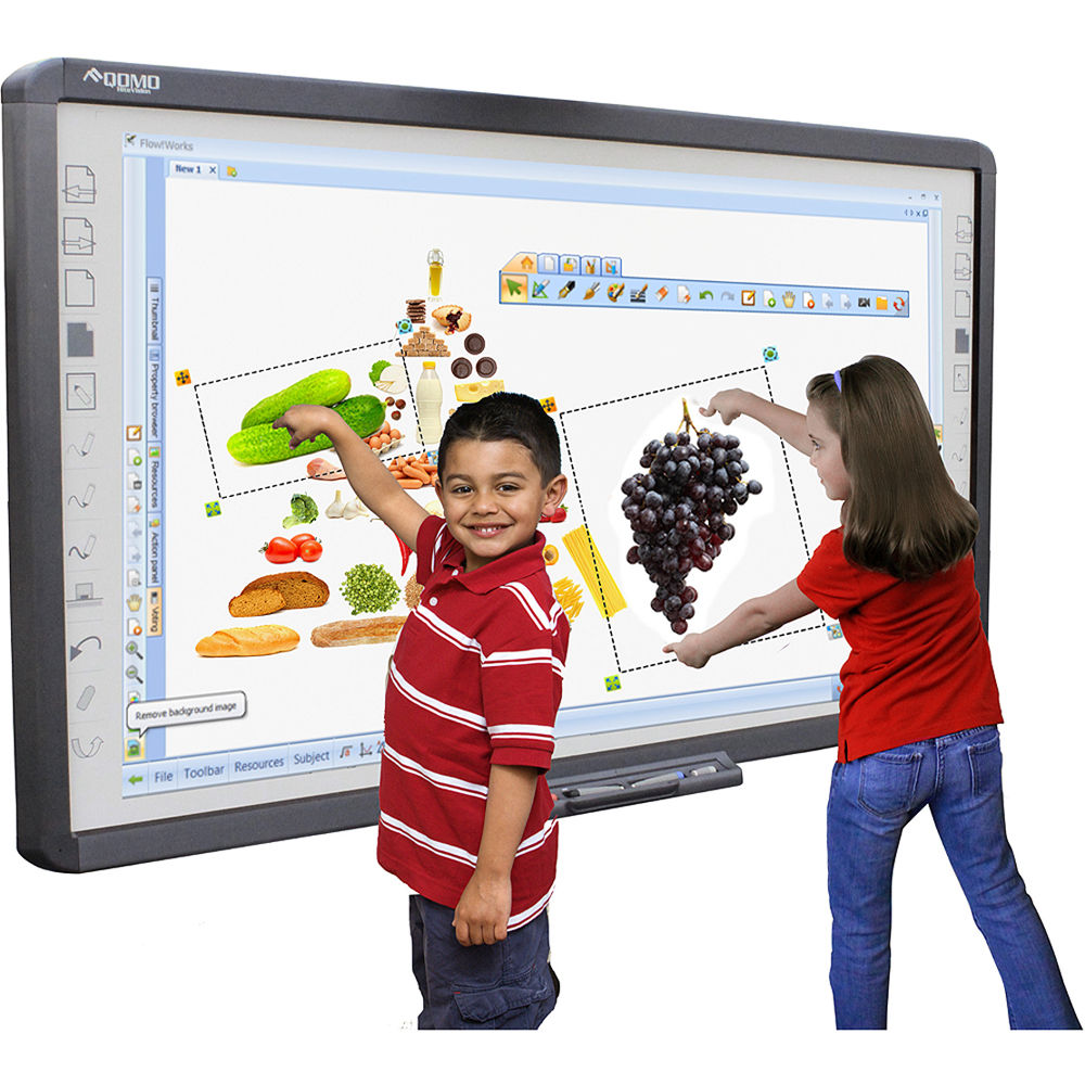 classroom with smartboard clipart - 600×600