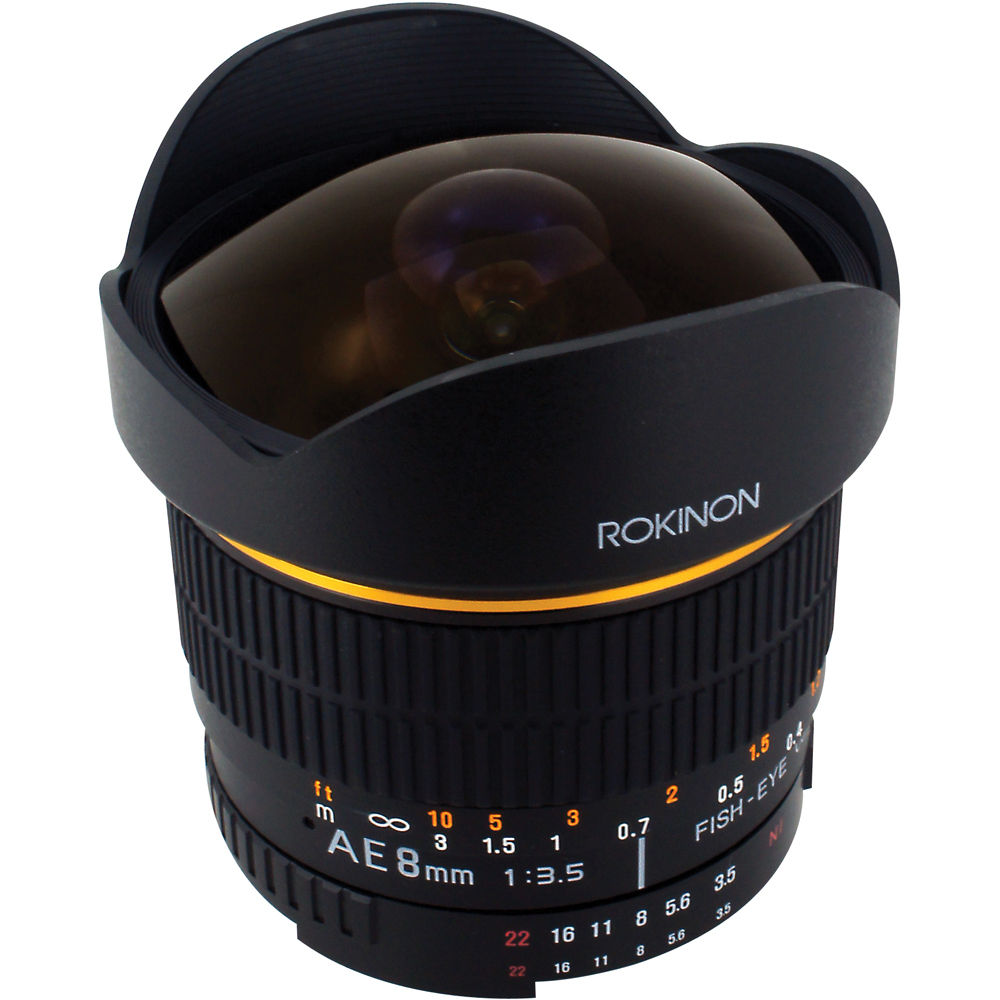 Rokinon 8mm ultra wide angle f 3 5 fisheye lens for nikon for Fish eye camera