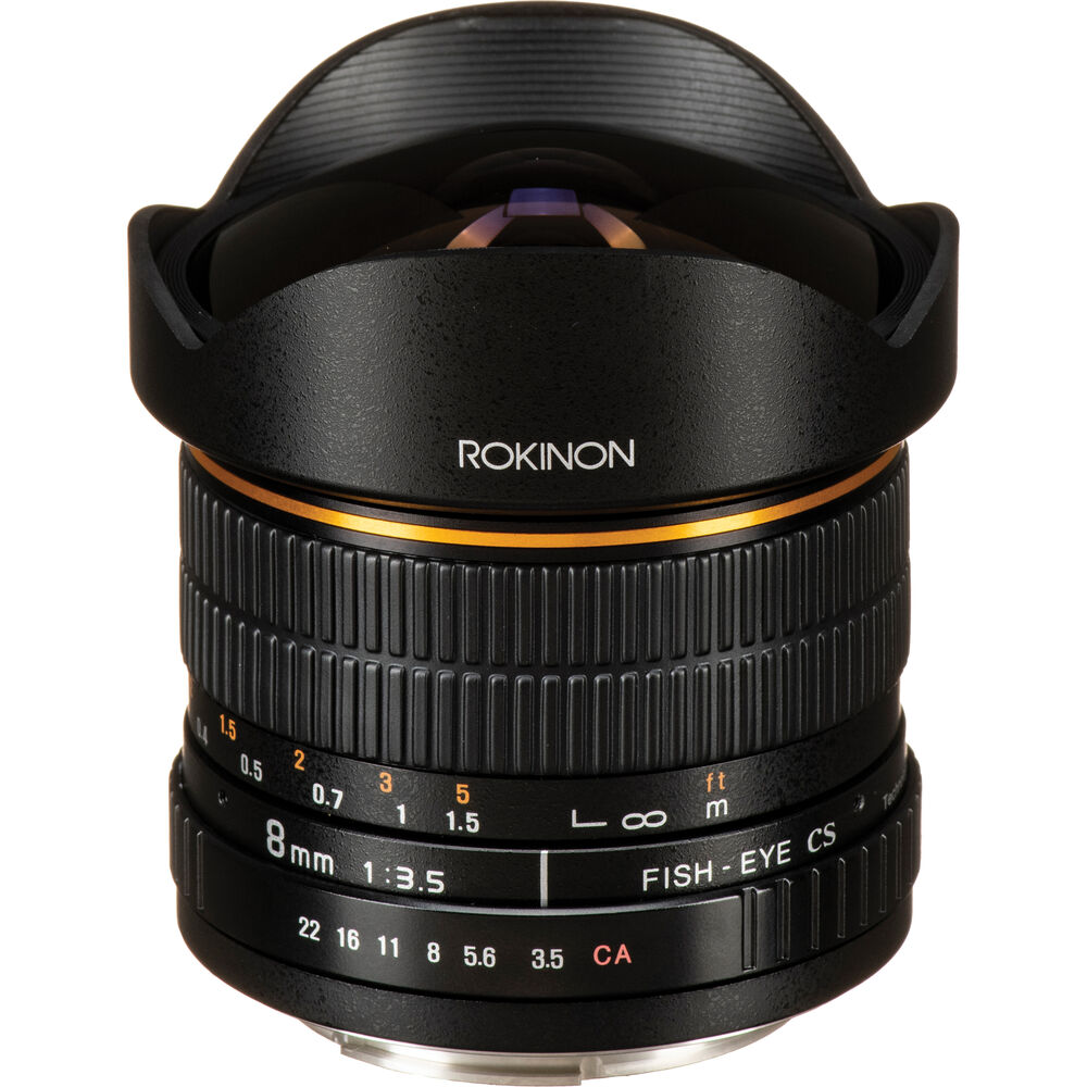 Rokinon 8mm ultra wide angle f 3 5 fisheye lens for canon for Fish eye lens