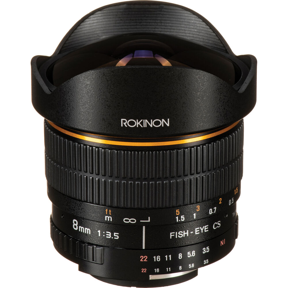 Rokinon 8mm F 3 5 Fisheye Lens For Nikon F Fe8m N B Amp H