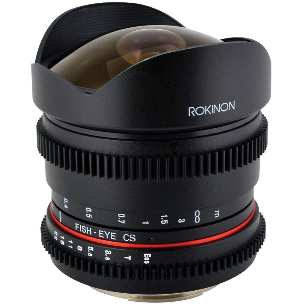Rokinon 8mm T 3 8 Fisheye Cine Lens For Canon Rk8mv C B Amp H