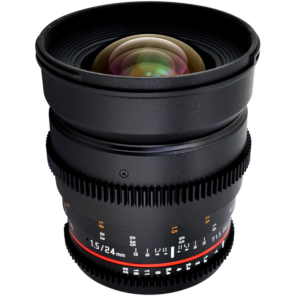 rokinon 24mm t1 5 cine ed as if umc lens for canon ef cv24m