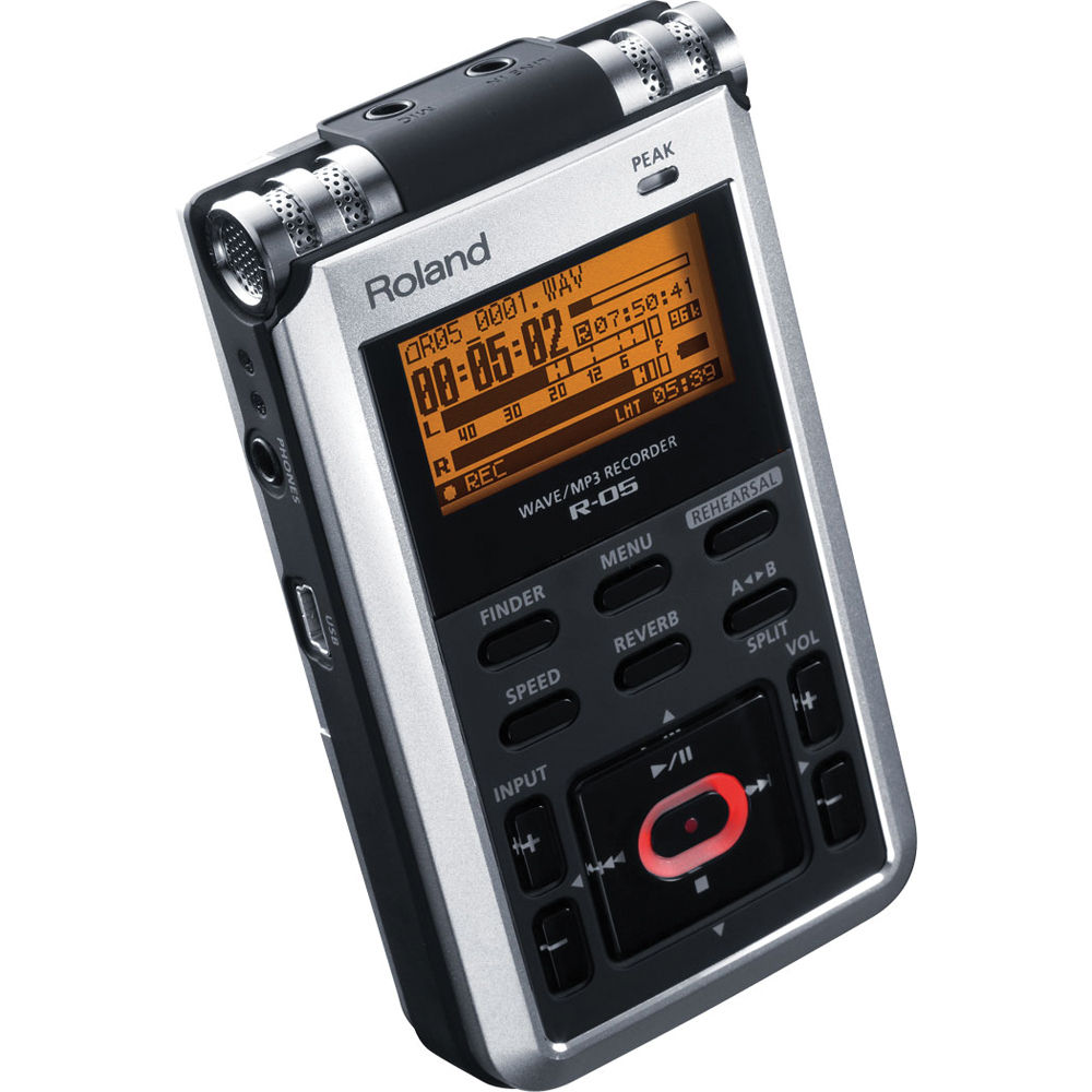 roland r 05 portable 24 bit digital audio recorder r 05 b h. Black Bedroom Furniture Sets. Home Design Ideas