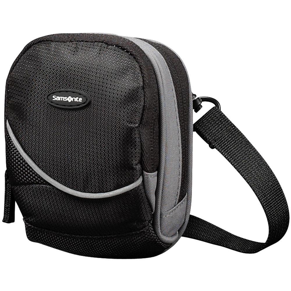 Samsonite Small Round Camera Bag Black And Gray