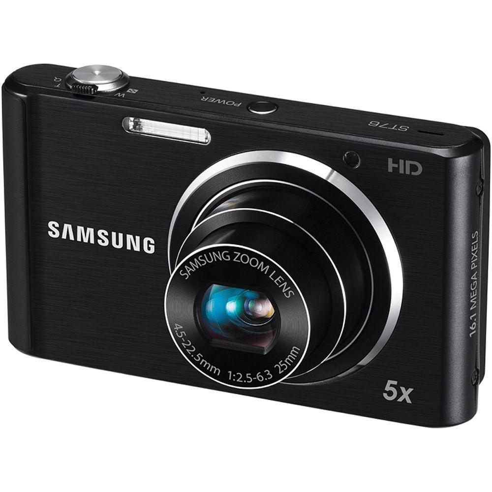 Samsung ST76 Compact Digital Camera (Black) EC-ST76ZZFPBUS B&H
