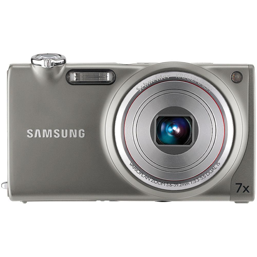 Samsung tl240 digital camera grey ec tl240zbpaus b h photo - Wanduhr digital groay ...