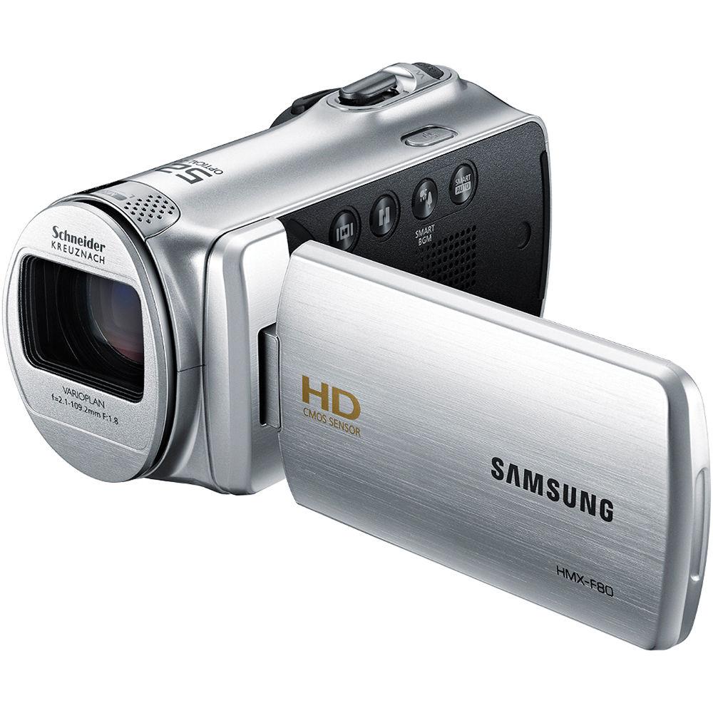 samsung hmx f80 flash memory camcorder silver hmx f80sn xaa rh bhphotovideo com Samsung 52X Camcorder Manual Samsung Hyper Dis 65X Manual