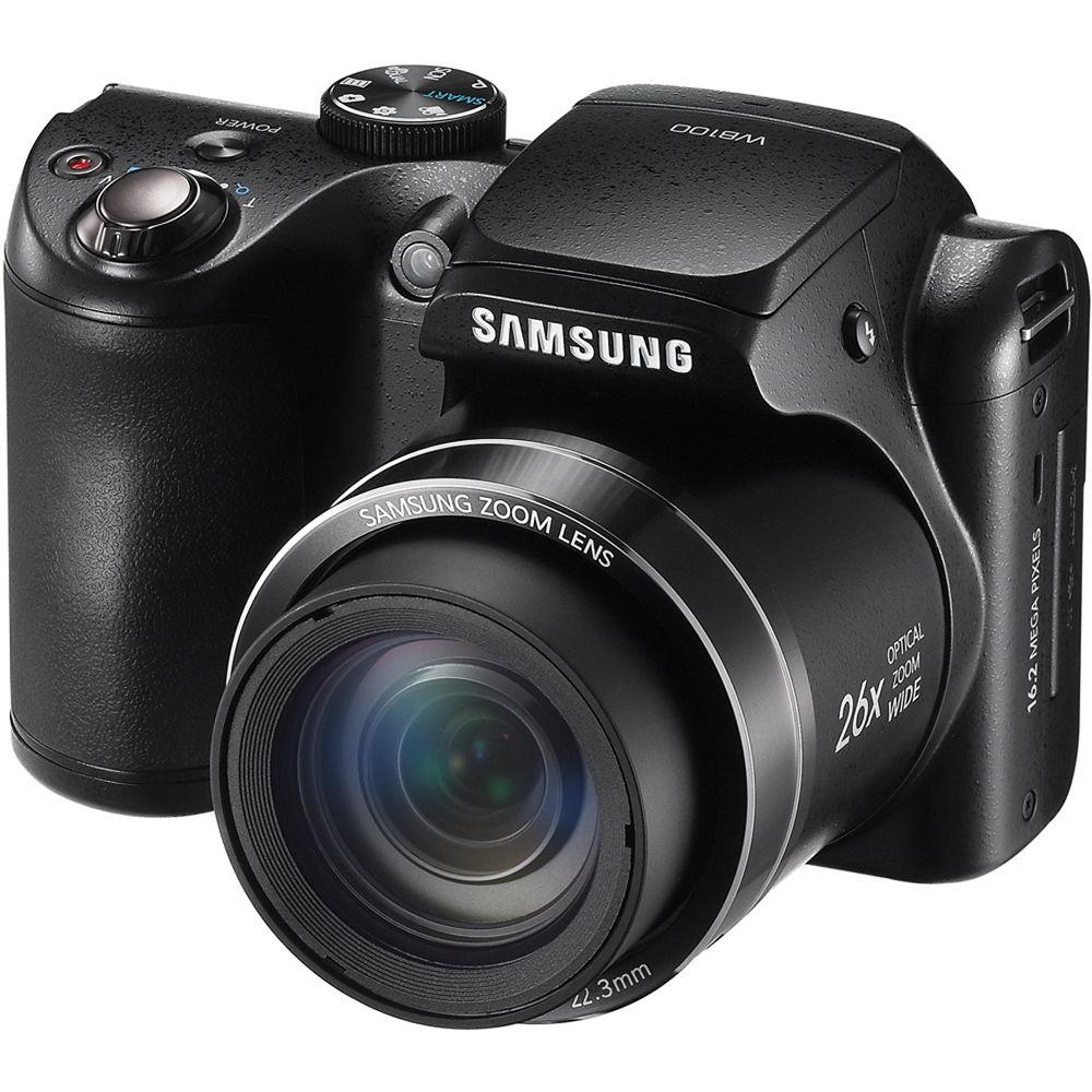 Samsung WB100 Digital Camera (Black) EC-WB100ZBABUS B&H Photo