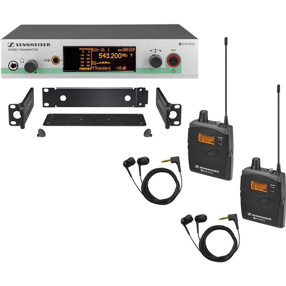 sennheiser ew 300 2 iem g3 wireless stereo audio ew300 2iemg3 b. Black Bedroom Furniture Sets. Home Design Ideas