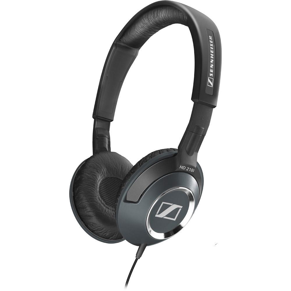sennheiser hd 218i on ear stereo headphones with mic remote. Black Bedroom Furniture Sets. Home Design Ideas