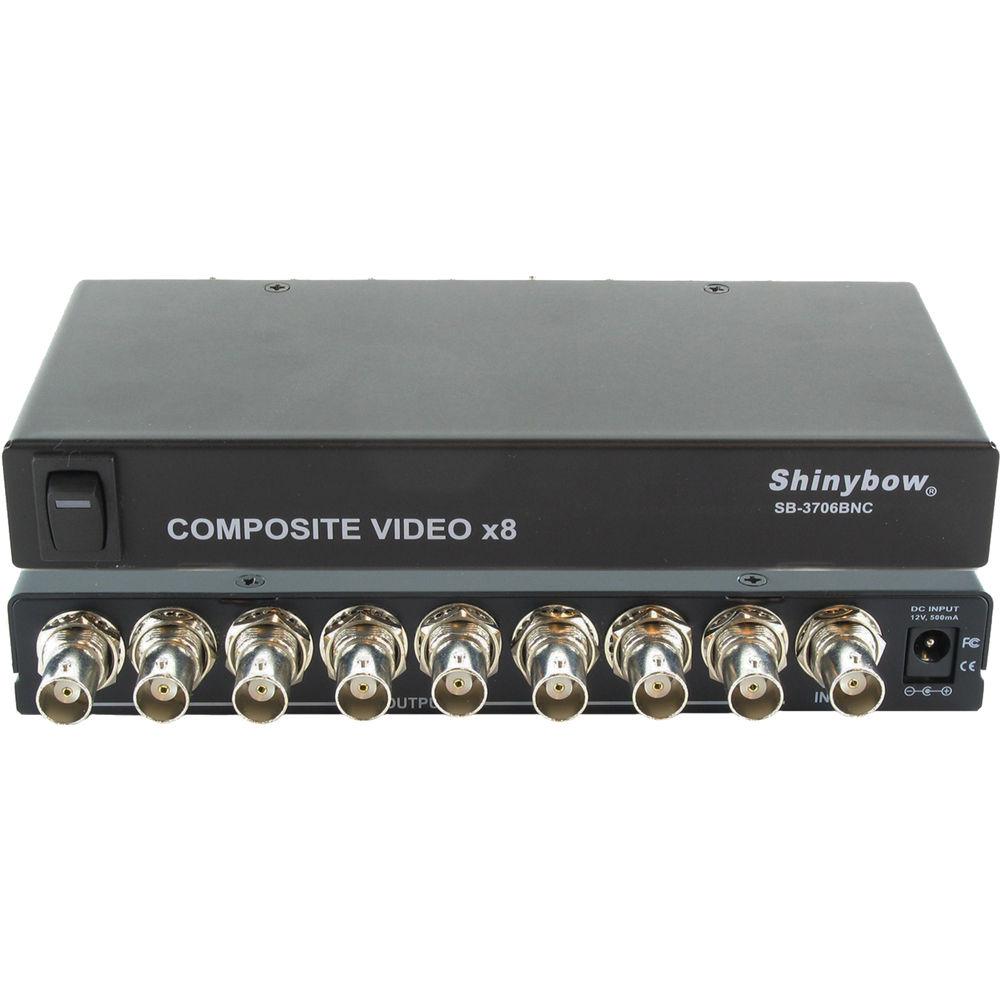 shinybow sb 3706bnc 1 x 8 composite video sb 3706bnc b\u0026h photoshinybow sb 3706bnc 1 x 8 composite video distribution amplifier