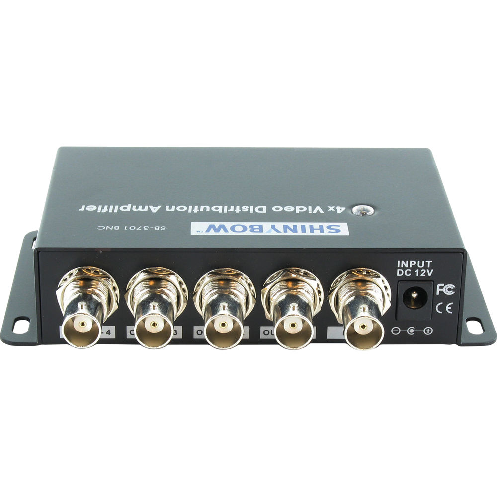 shinybow 1 x 4 composite video distribution amplifier sb 3701bncshinybow 1 x 4 composite video distribution amplifier