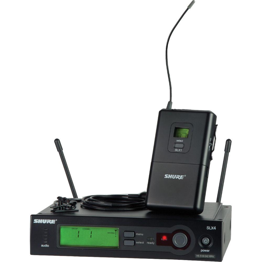 shure slx series wireless microphone system slx14 150 c l4 b h. Black Bedroom Furniture Sets. Home Design Ideas
