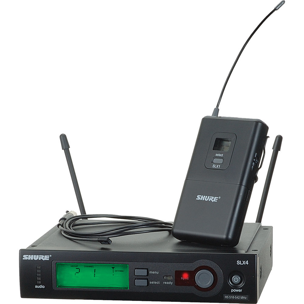 shure slx14 93 wireless omni lavalier microphone slx14 93 h5 b h. Black Bedroom Furniture Sets. Home Design Ideas