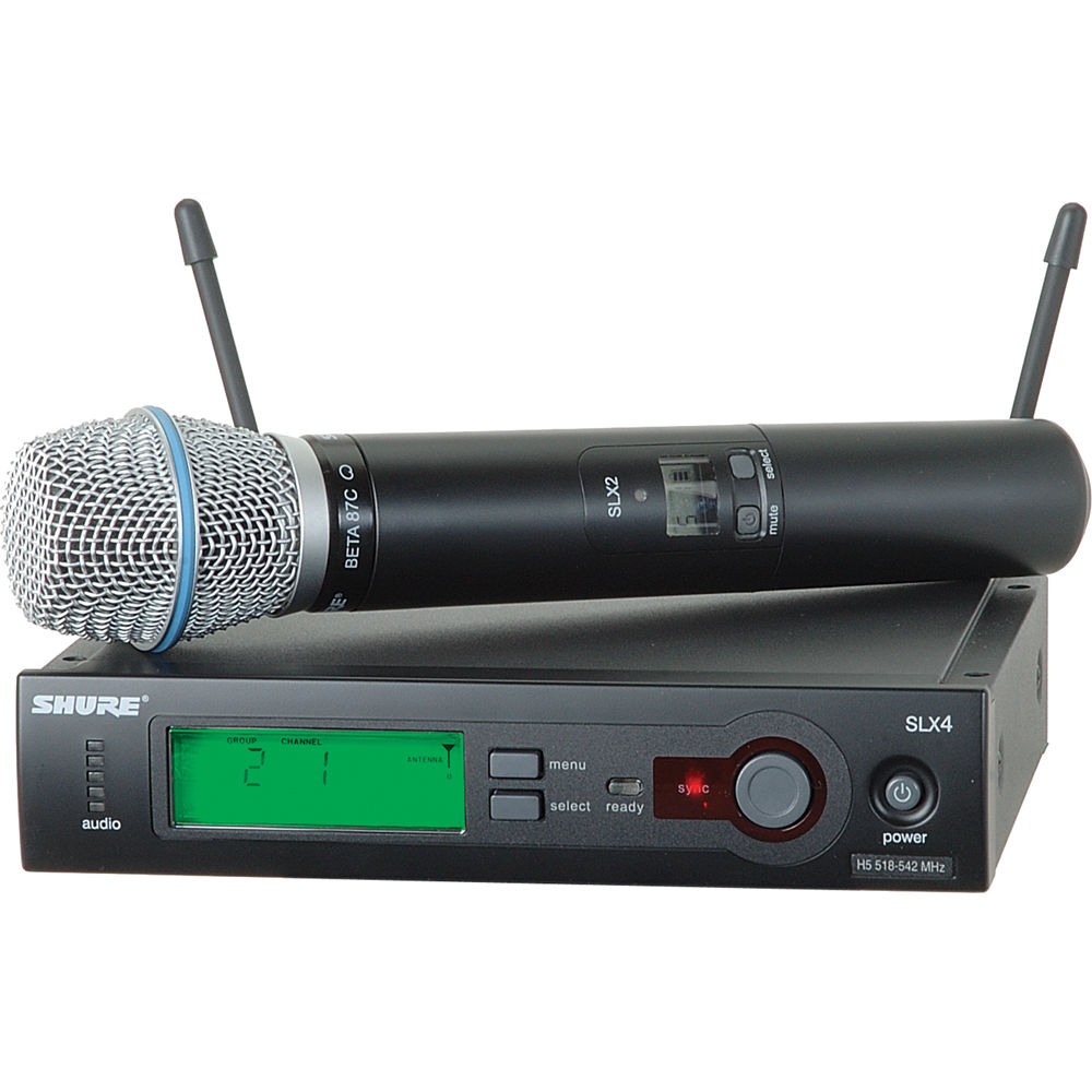 shure slx series wireless microphone system slx24 beta87c l4 b h. Black Bedroom Furniture Sets. Home Design Ideas
