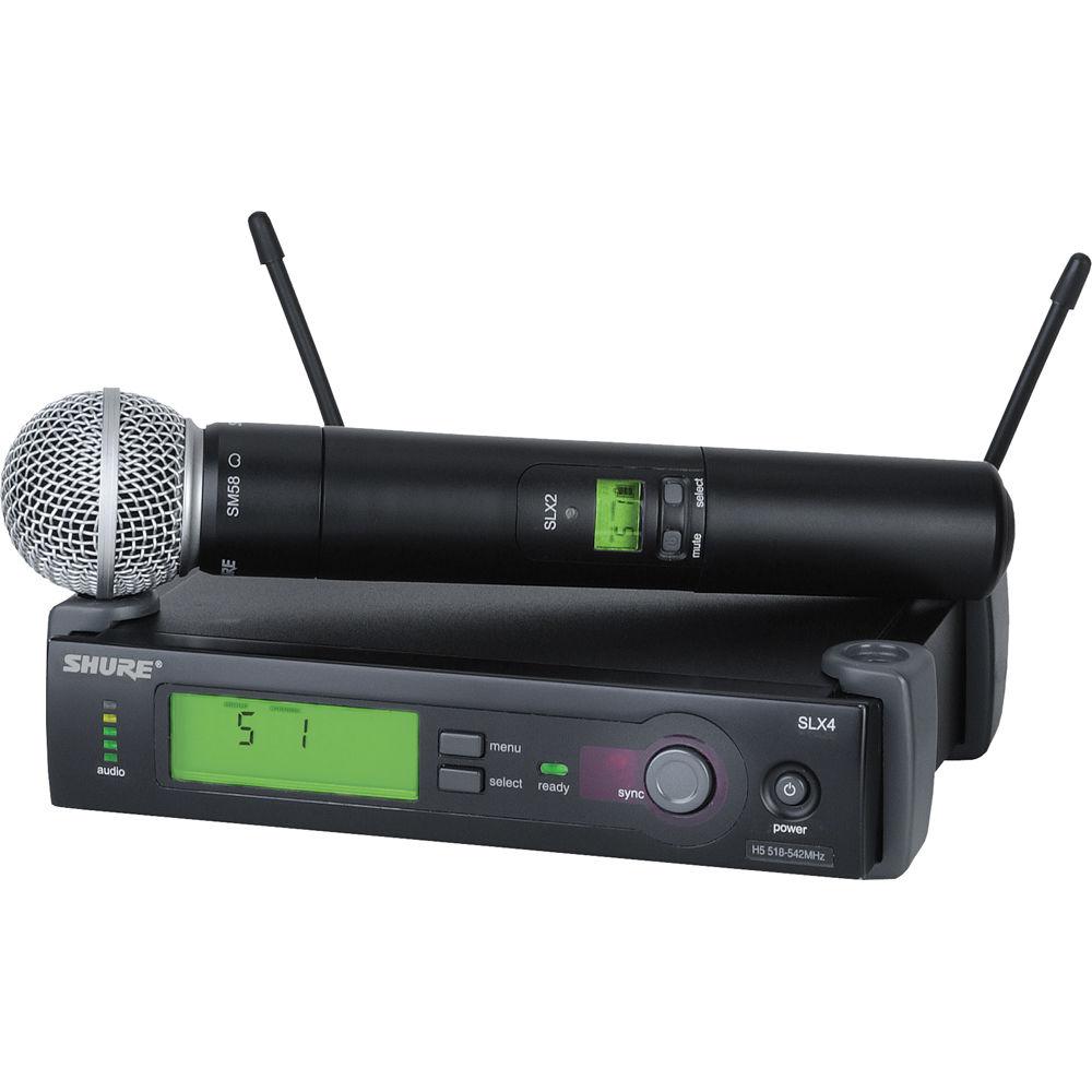 Shure Lx Wireless Microphone System : shure slx series wireless microphone system slx24 sm58 j3 b h ~ Hamham.info Haus und Dekorationen
