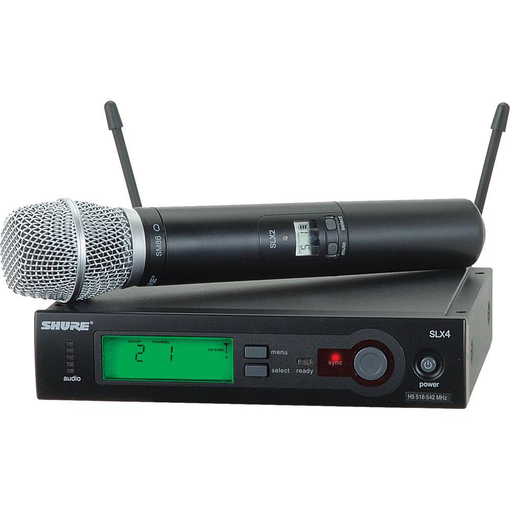 shure slx series wireless microphone system l4 638 slx24 sm86 l4. Black Bedroom Furniture Sets. Home Design Ideas