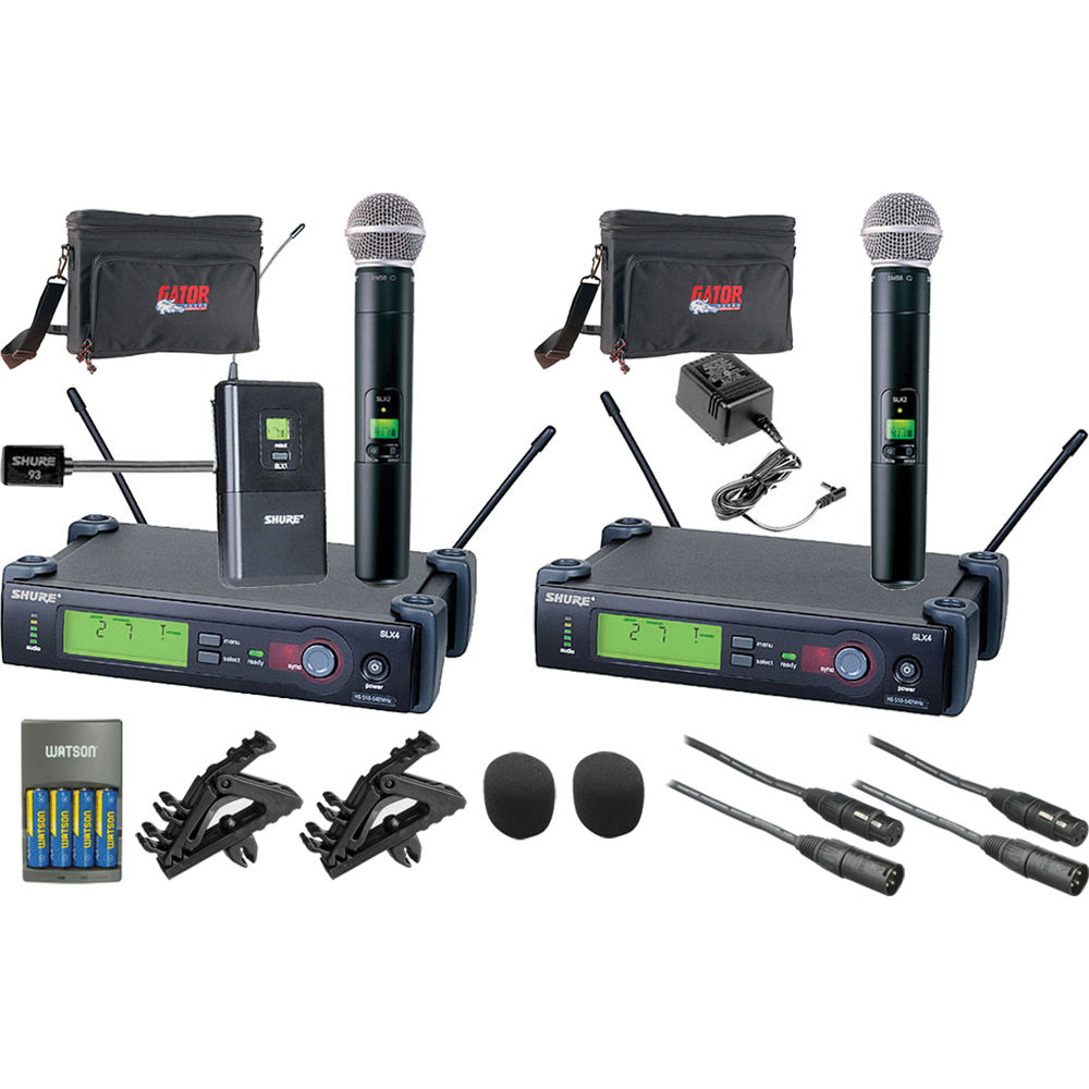 shure slx series dual wireless lavalier and handheld microphone. Black Bedroom Furniture Sets. Home Design Ideas