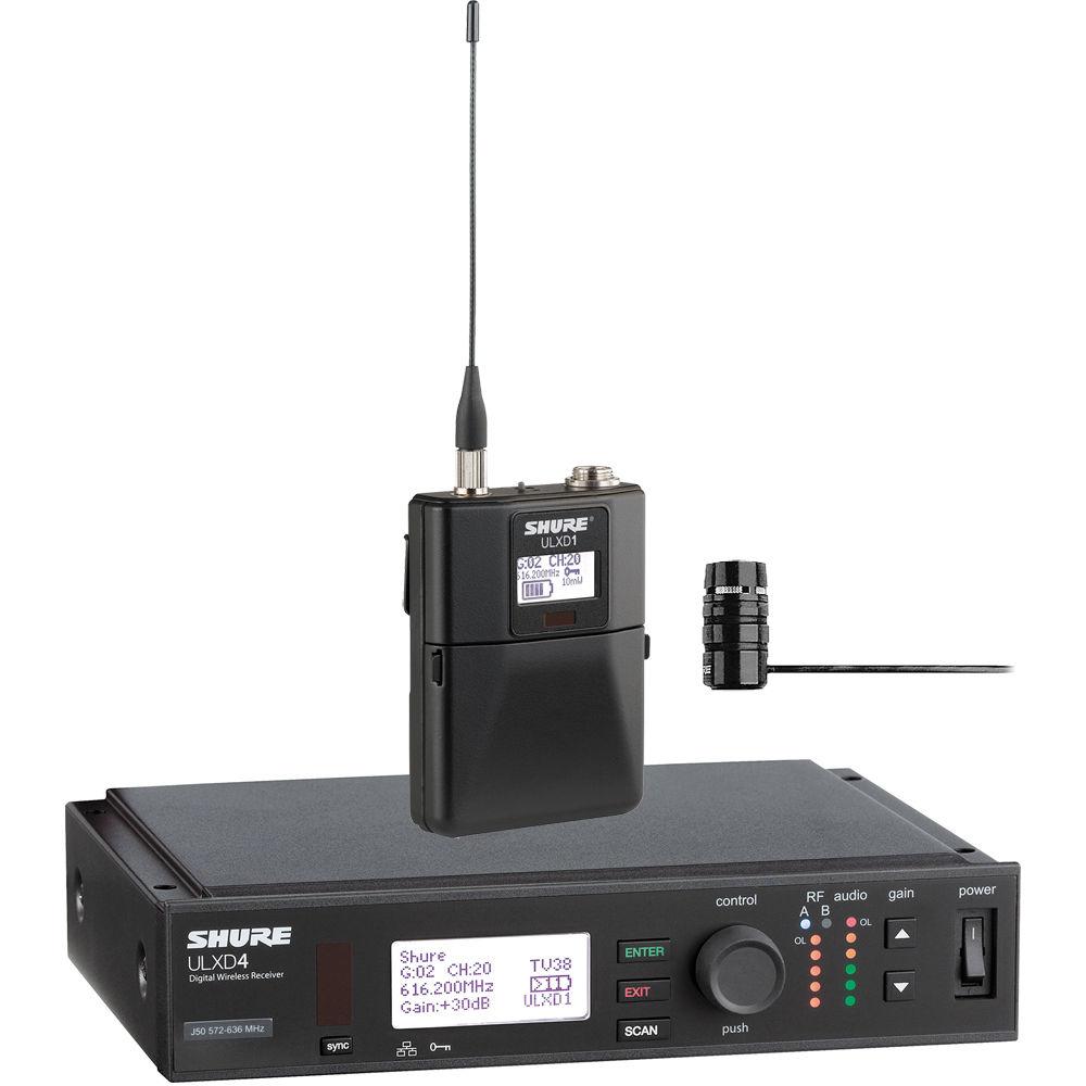 shure ulx d digital wireless lavalier microphone ulxd14 84 l50. Black Bedroom Furniture Sets. Home Design Ideas