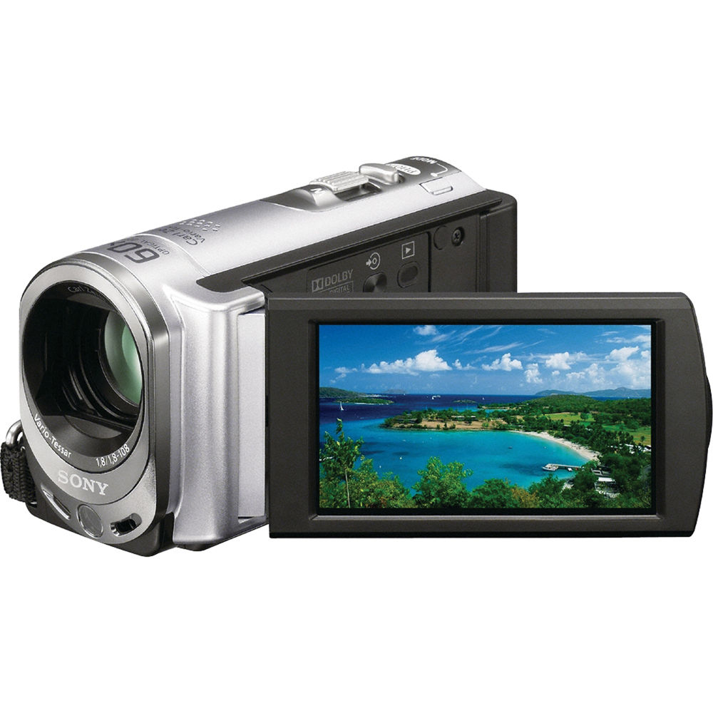 Sony Dcr Sx44 4gb Handycam Camcorder Silver Dcr Sx44 B Amp H