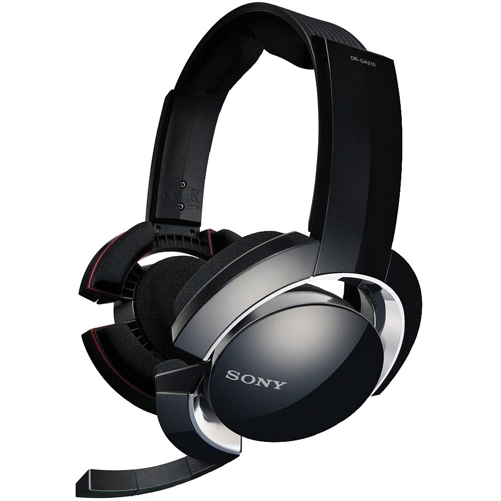 sony dr ga500 pc gaming headset system dr ga500 b h photo