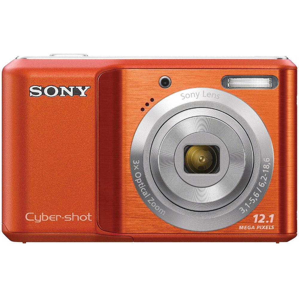 sony cybershot camera 12 1 megapixel. sony cyber-shot dsc-s2100 digital camera (orange) cybershot 12 1 megapixel