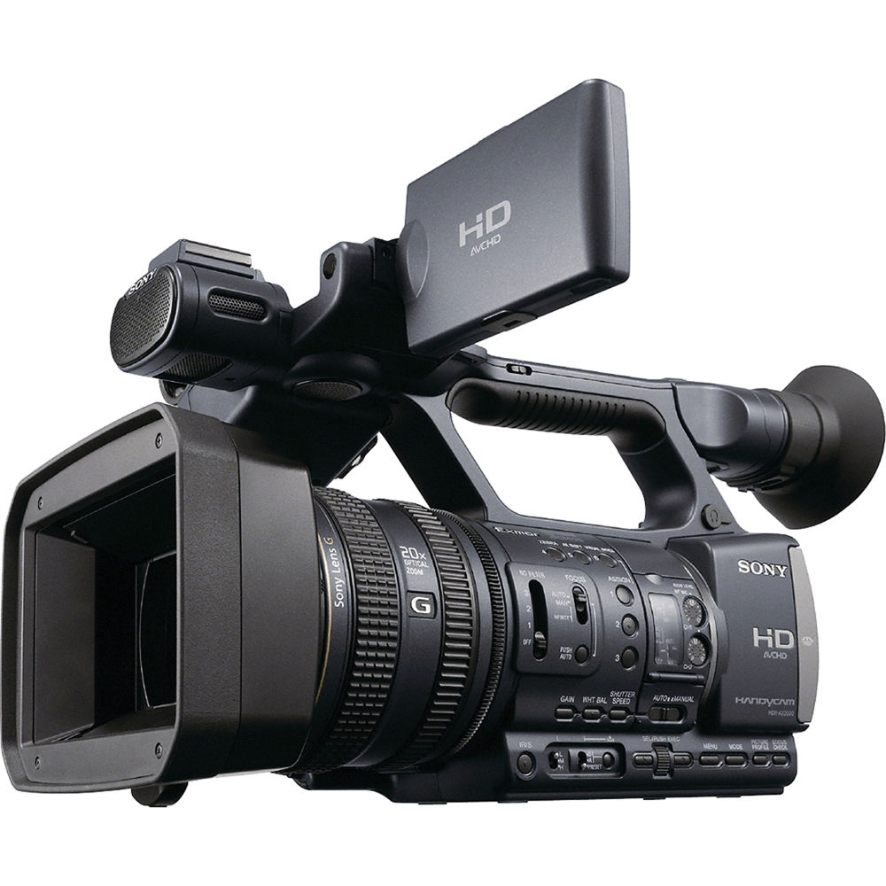 sony hdr ax2000e avchd pal camcorder hdrax2000he b h photo video. Black Bedroom Furniture Sets. Home Design Ideas