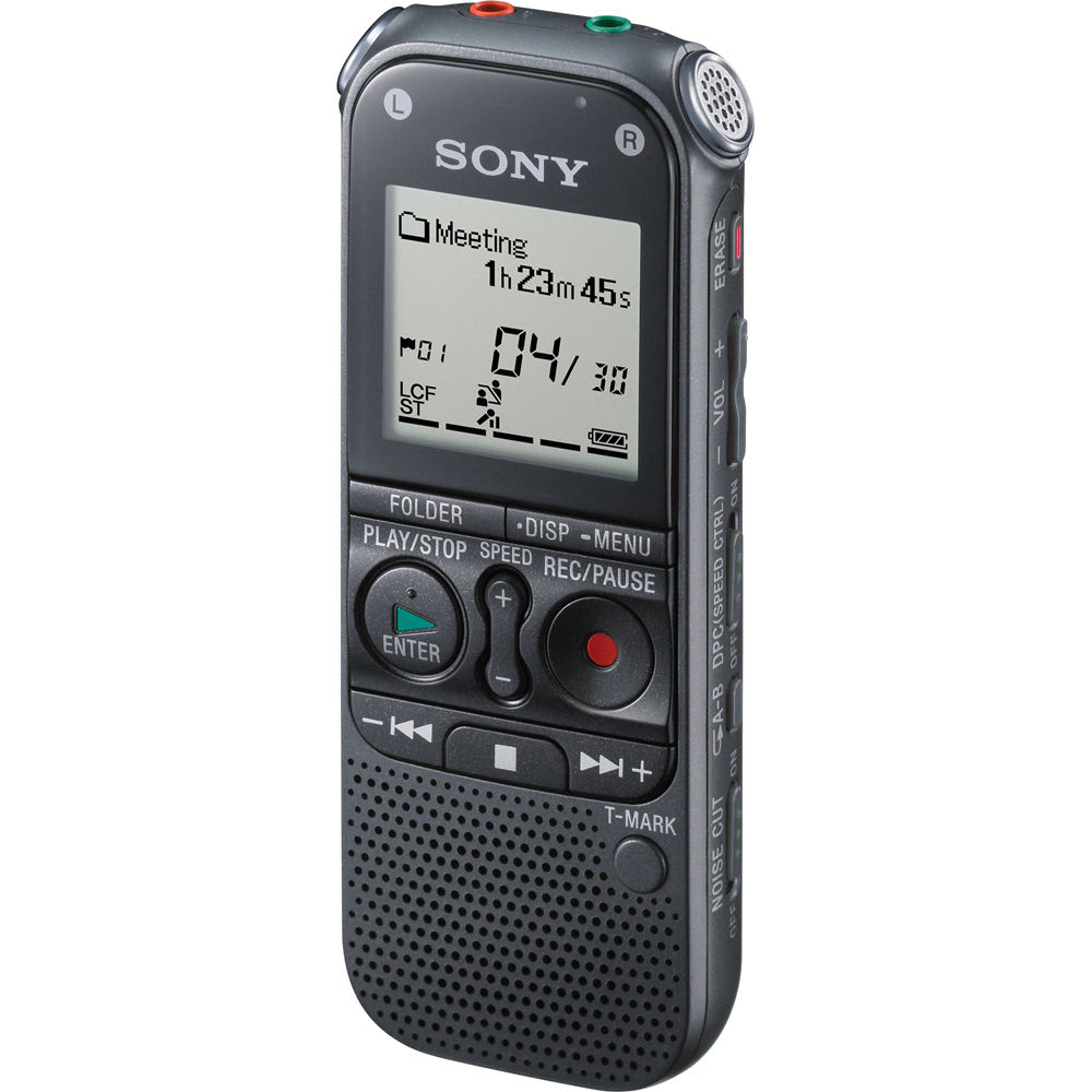 sony icdax412 digital voice recorder icdax412 b h photo video rh bhphotovideo com sony icd-px440 stereo ic digital voice recorder manual Best Sony Digital Voice Recorder