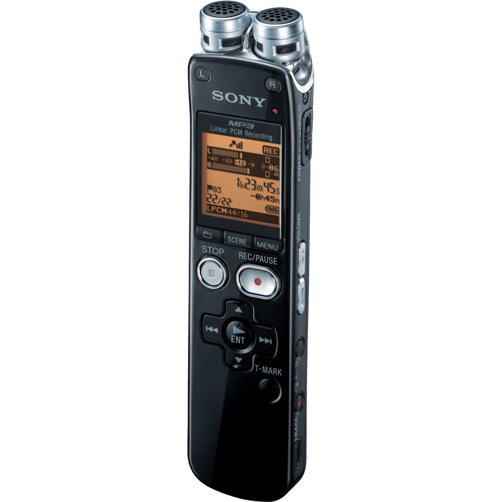 sony icd sx712 digital voice recorder icdsx712 b h photo video. Black Bedroom Furniture Sets. Home Design Ideas