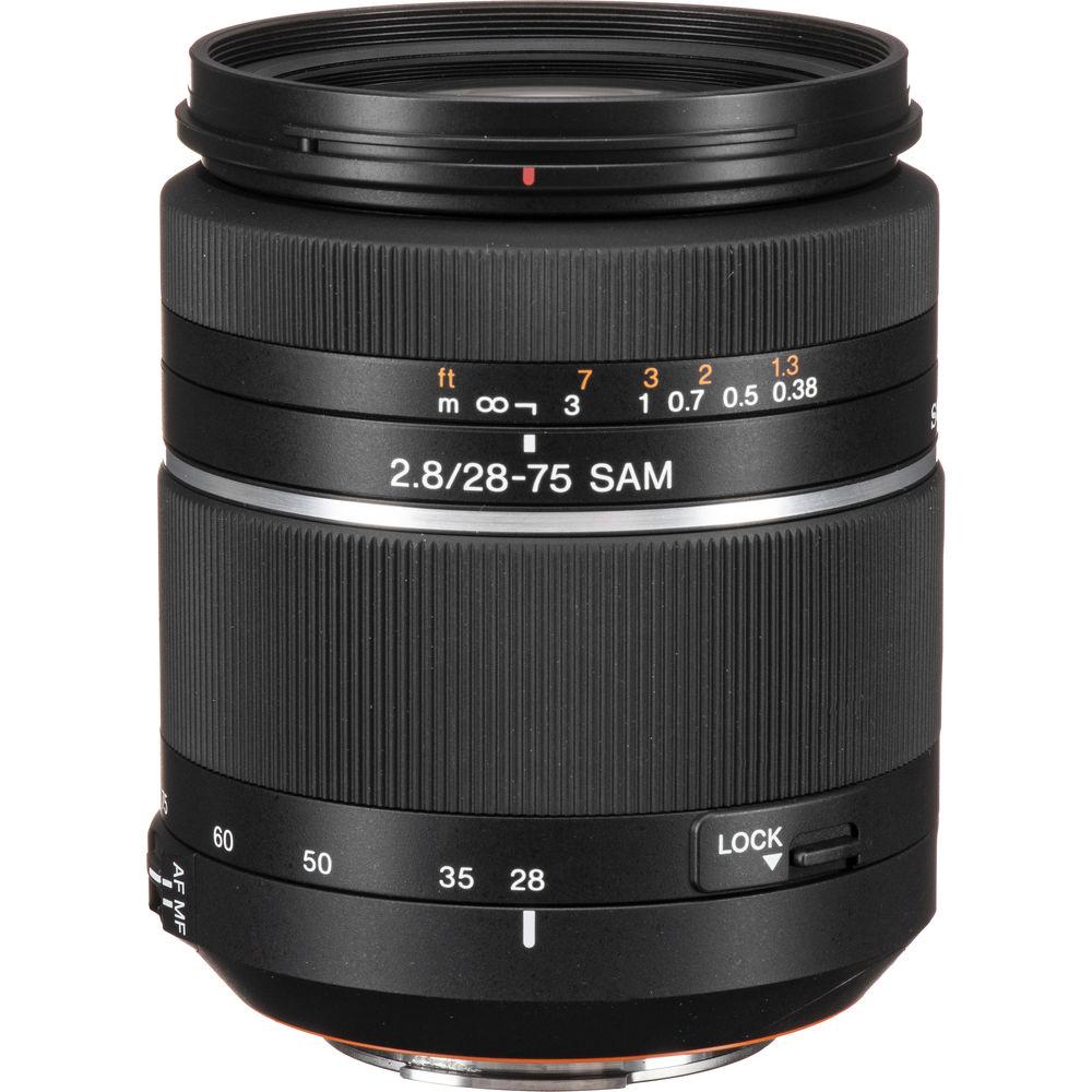 sony 28 75mm f28 alpha a mount standard zoom lens