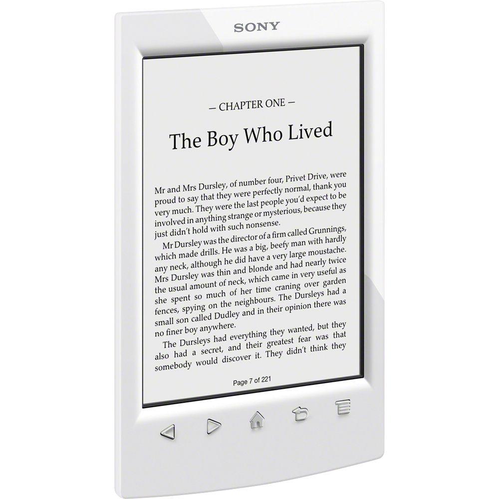 sony prs t2 ereader white prst2wc b h photo video rh bhphotovideo com Sony PRS- T3 Sony Reader