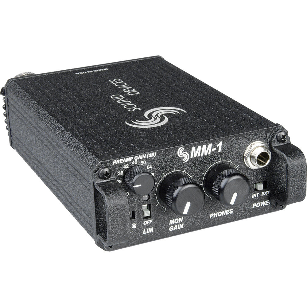 Sound Devices Mm 1 Single Channel Portable Microphone Preamp Simple Mixer Circuit With Op Amp Mic Pre