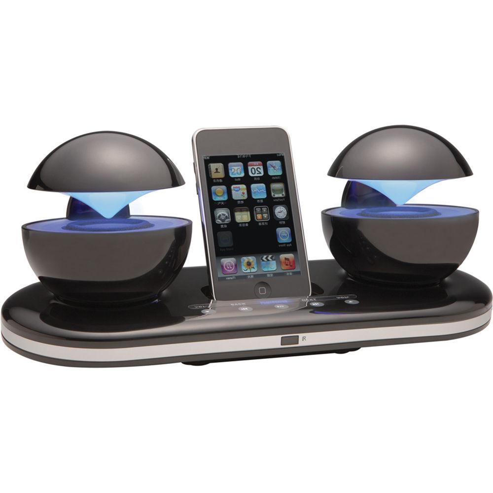 Speakal iCrystal iPod Docking Station (Black) ICRYSTAL-BLK-01