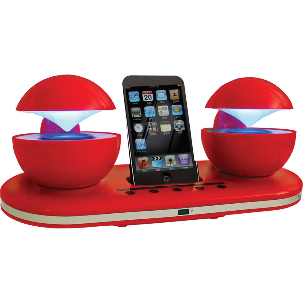 Speakal iCrystal iPod Docking Station (Red) ICRYSTAL-RED-01 B&H