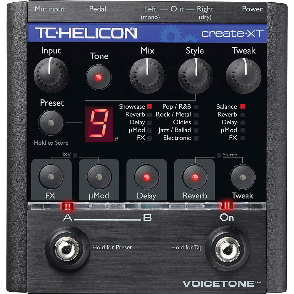 tc helicon voicetone create xt vocal effect foot 996 002011. Black Bedroom Furniture Sets. Home Design Ideas