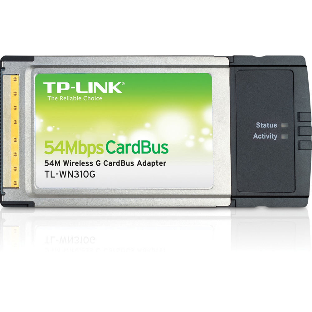 TP-Link TL-WN310G 54Mbps Wireless Cardbus Adapter