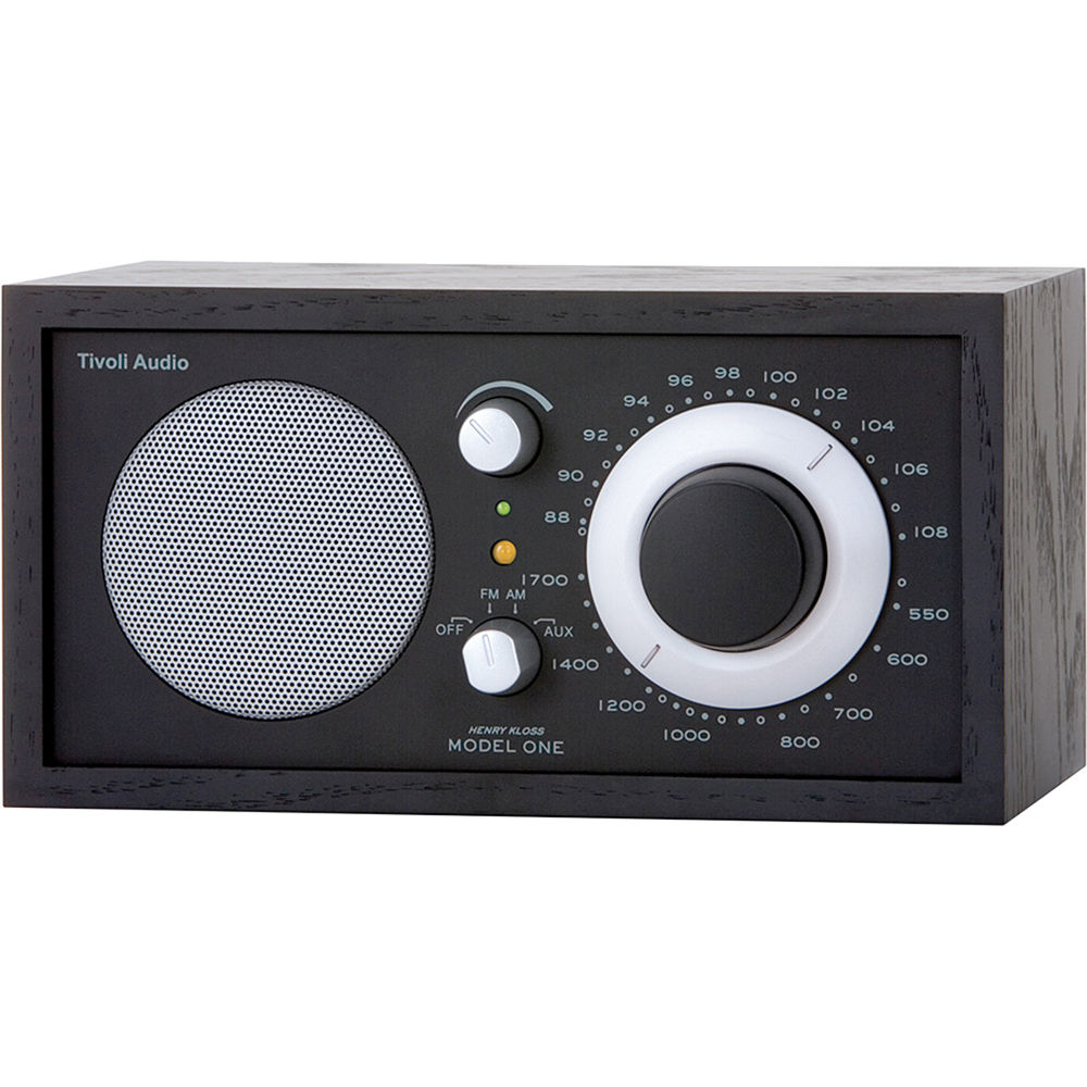 tivoli model one am fm table radio black ash black m1bbs b h. Black Bedroom Furniture Sets. Home Design Ideas