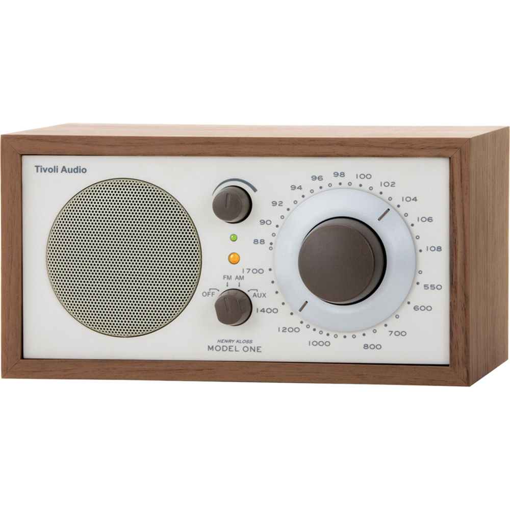 tivoli model one am fm table radio beige walnut m1cla b h. Black Bedroom Furniture Sets. Home Design Ideas