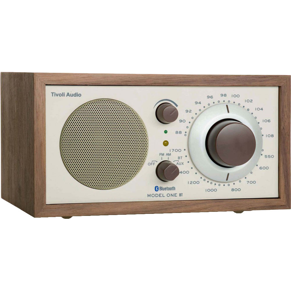 tivoli model one bluetooth am fm radio walnut beige m1btcla. Black Bedroom Furniture Sets. Home Design Ideas