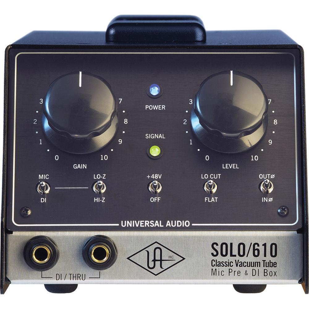 Ua Solo 610 : universal audio solo 610 microphone preamplifier solo 610 b h ~ Vivirlamusica.com Haus und Dekorationen