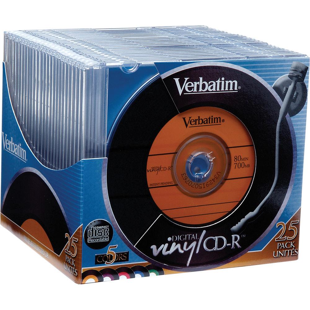 verbatim cd r digital vinyl color disc 25 94588 b h photo. Black Bedroom Furniture Sets. Home Design Ideas