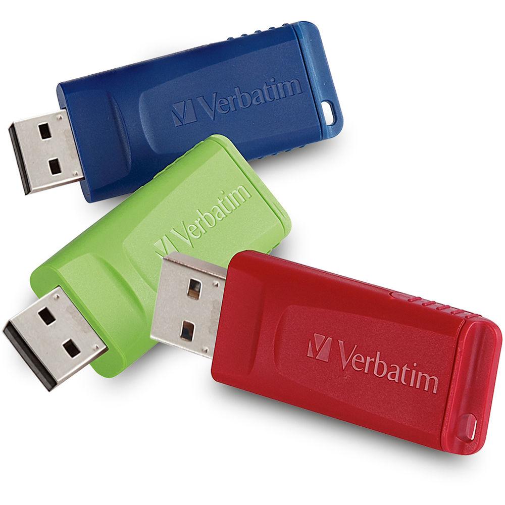 verbatim 4gb store 39 n 39 go usb flash drive 3 pack 97002 b h. Black Bedroom Furniture Sets. Home Design Ideas