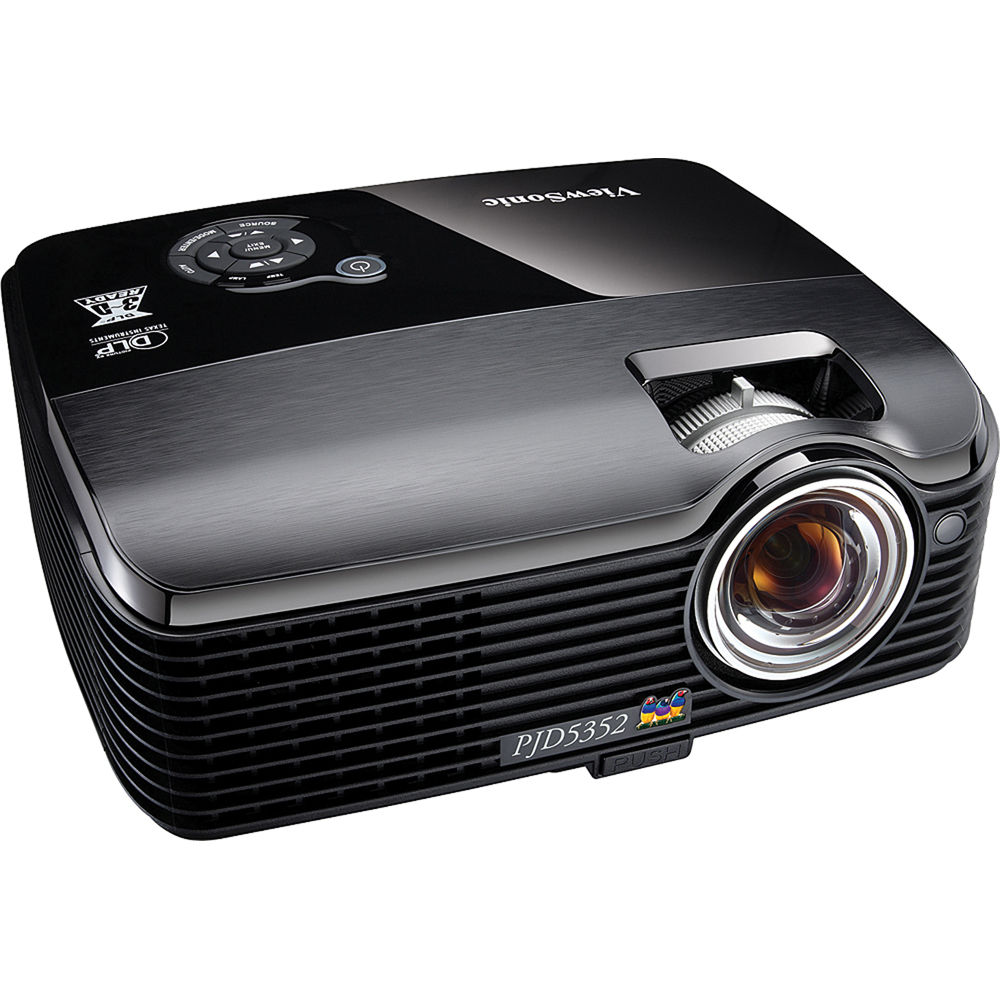 Viewsonic pjd5352 portable short throw projector pjd5352 b h for The best portable projector