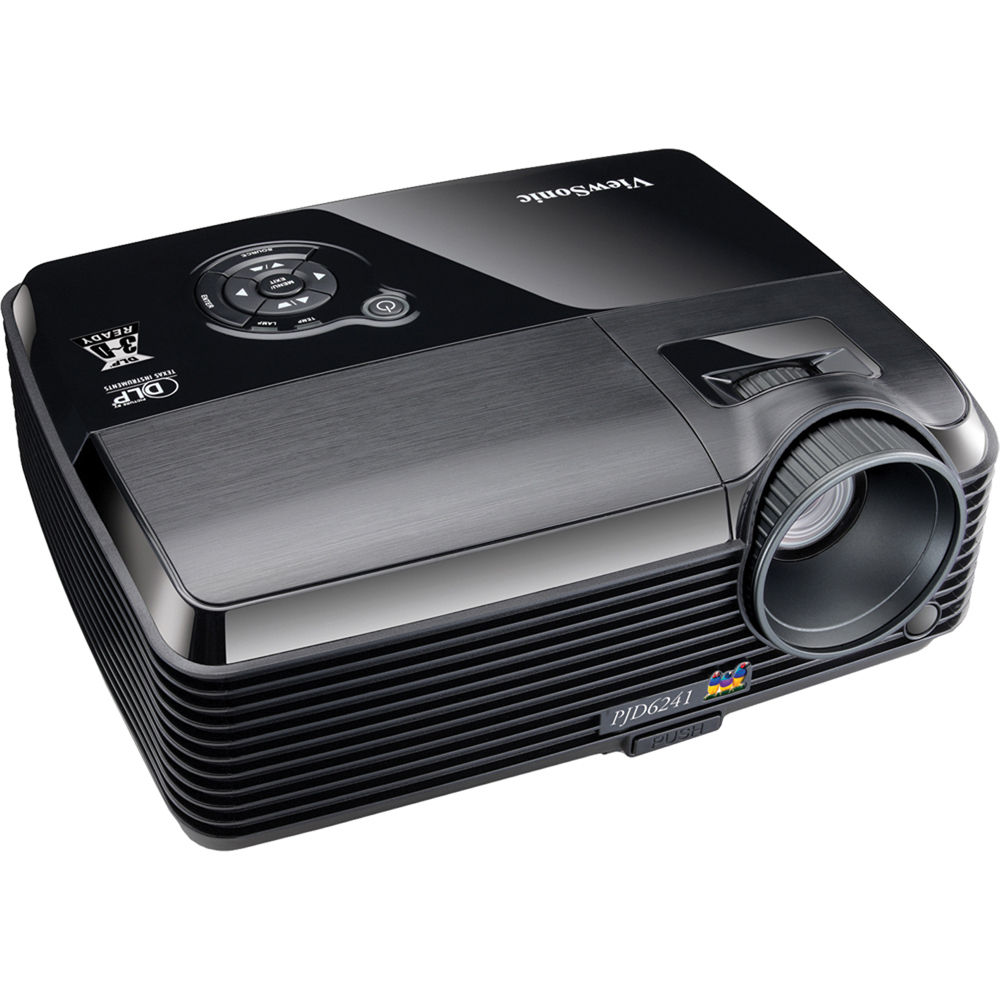 Viewsonic pjd6241 networkable portable dlp projector for Dlp portable projector