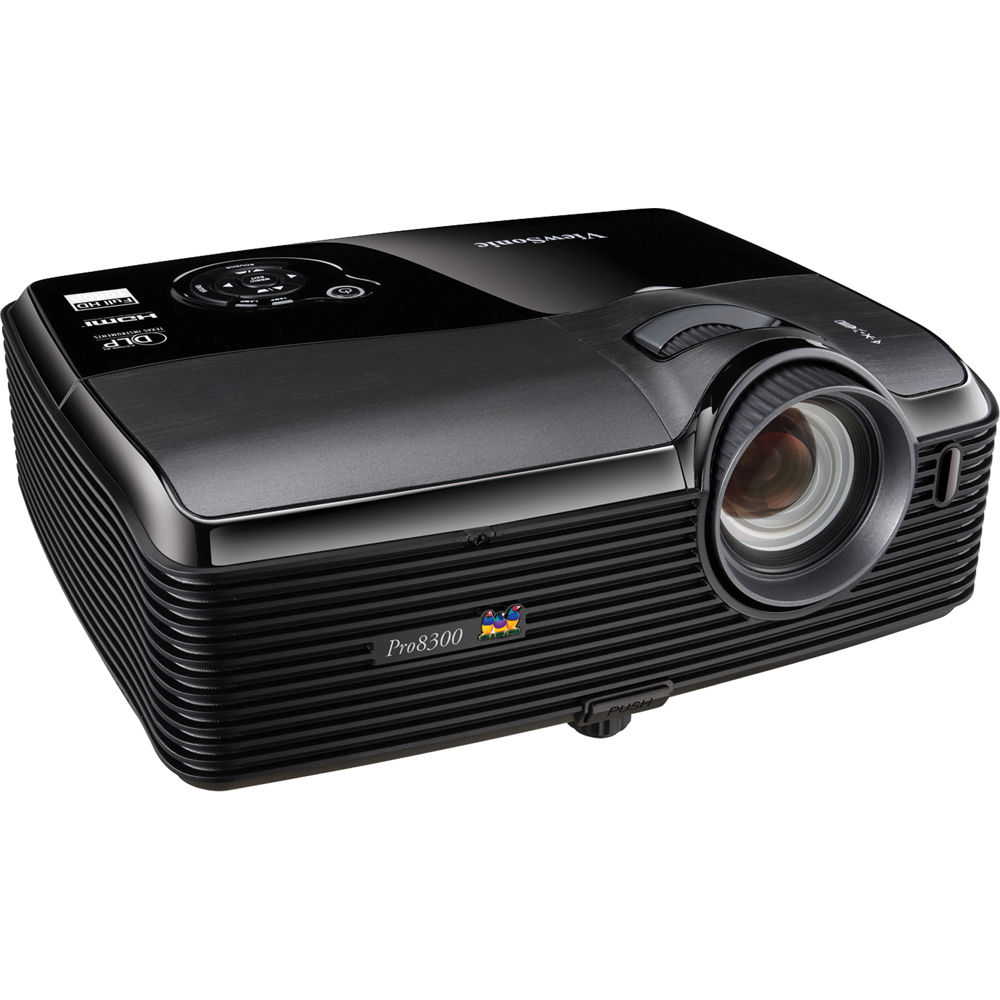 Viewsonic pro8300 hd dlp projector pro8300 b h photo video for Best small hd projector