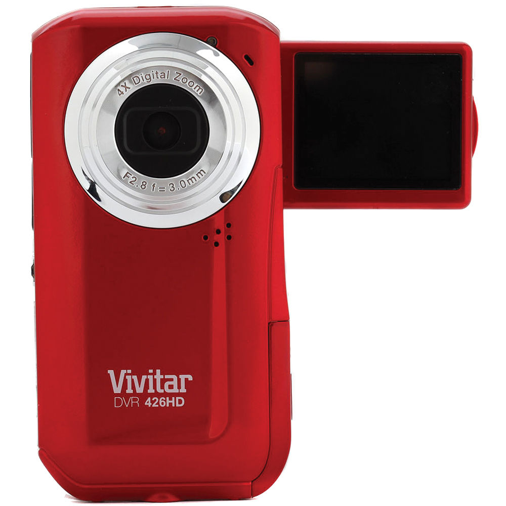 vivitar dvr 426hd digital video recorder red dvr426hd rh b h rh bhphotovideo com Vivitar Camcorder Vivitar DVR 426HD AV Cable