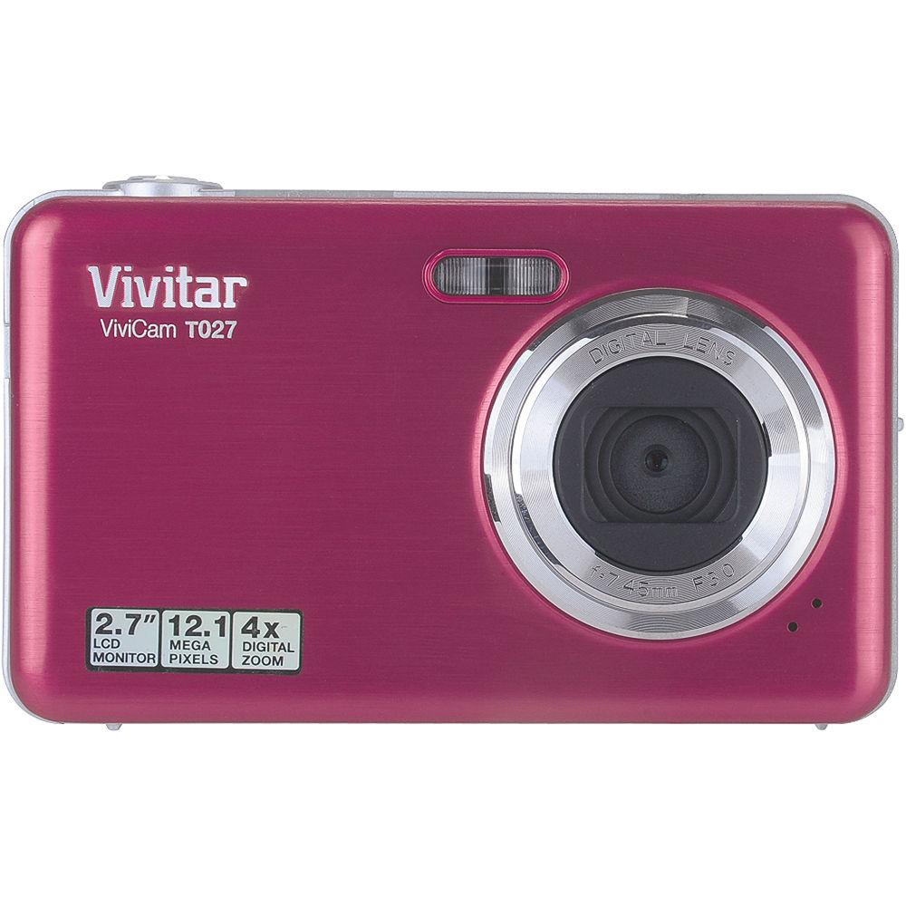 vivitar vivicam t027 digital camera pink vt027 pink b h photo rh bhphotovideo com